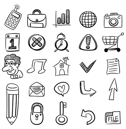 hand draw web icon Stock Vector - 8927521