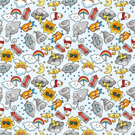 seamless weather pattern Stock Vector - 8927591