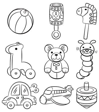 clip art draw: hand draw cartoon baby toy icon