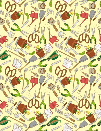 seamless gardening pattern  Stock Vector - 8927617