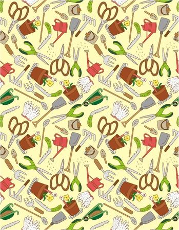 agriculture wallpaper: seamless gardening pattern