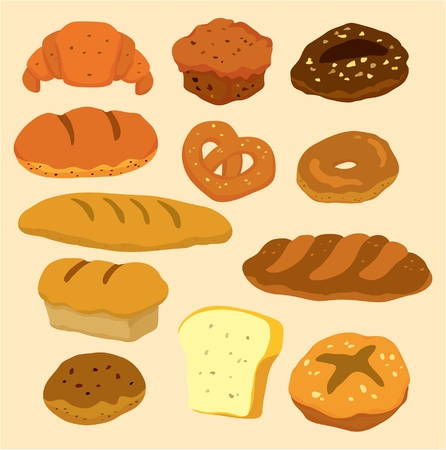 beignet: ic�ne de pain caricature