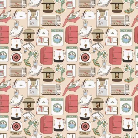 seamless home appliances pattern