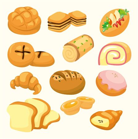 cartoon bread icon Vector