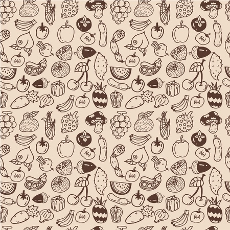 seamless vegetable pattern Vector
