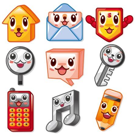 head phone: cartoon cute web icon Illustration