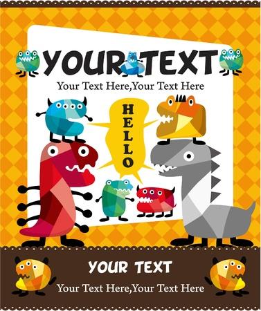 cartoon monster card Stock Vector - 8927682