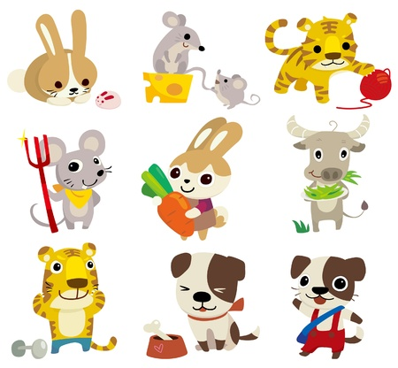 draw animal: cartoon animal  icon