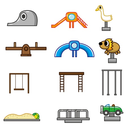 cartoon park playground icon Stock Vector - 8927705
