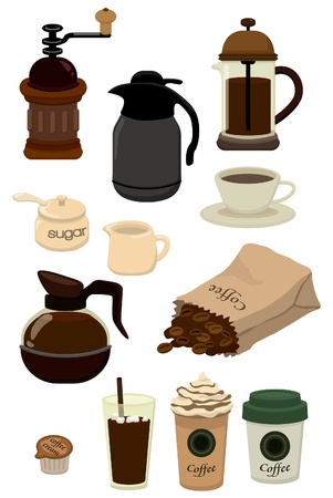 coffee maker: cartoon cafe icon