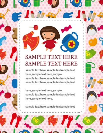 baby toy card  Vector