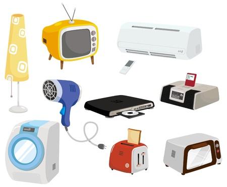 Cartoon Home Appliances pictogram  Vector Illustratie