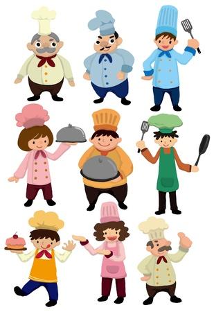 cocinero italiano: caricatura Chef icono Vectores