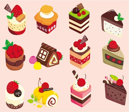 cartoon food: cartoon cake icon