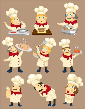 cartoon chef icon 版權商用圖片 - 8982841
