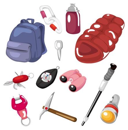 tool icon: cartoon icona dello strumento arrampicata Vettoriali