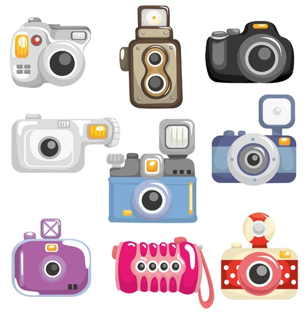 entertainment industry: cartoon camera icon Illustration