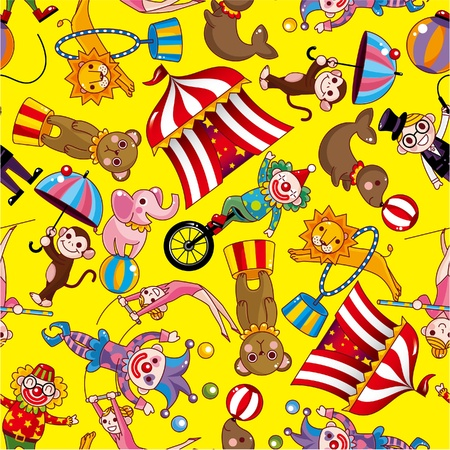 marquee tent: seamless circus pattern
