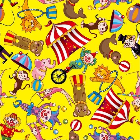 animal texture: seamless circus pattern