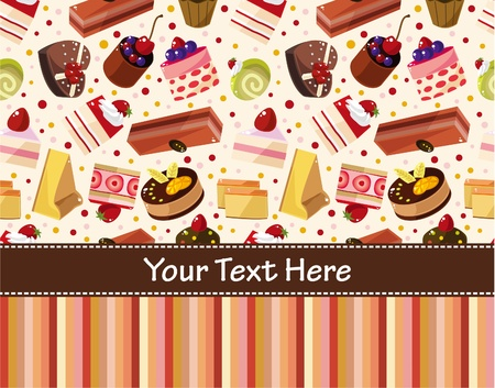 honey cake: cartoon cake card