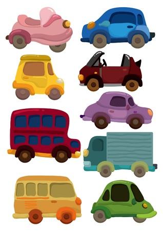 ダンプ: 漫画車アイコン