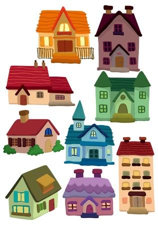 decorando: icono de la casa de dibujos animados