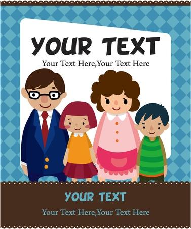 cartoon family card Stock Vector - 8984228