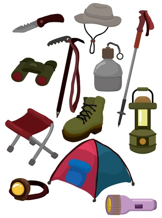 flashlight: cartoon climb equipment icon