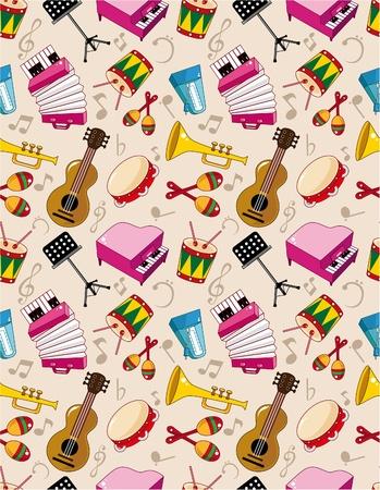 tambourine: seamless music pattern