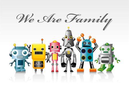 robot card Ilustracja