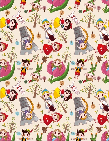 seamless story people pattern Stock Vector - 8986109