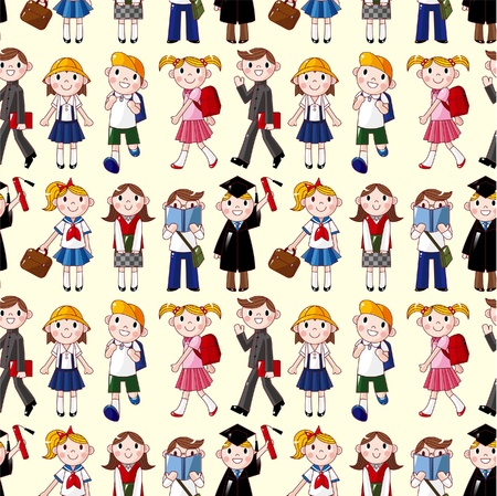 teacher students: seamless student pattern