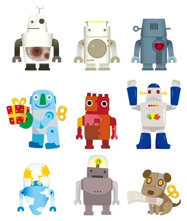 robot caricatura: icono de robot de dibujos animados