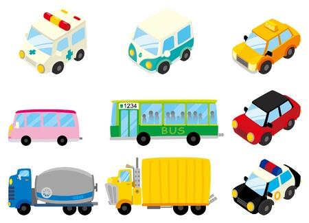 taxi: icono de coche de dibujos animados