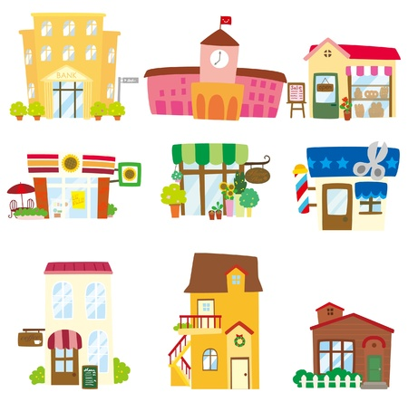 vibrant cottage: cartoon house icon  Illustration