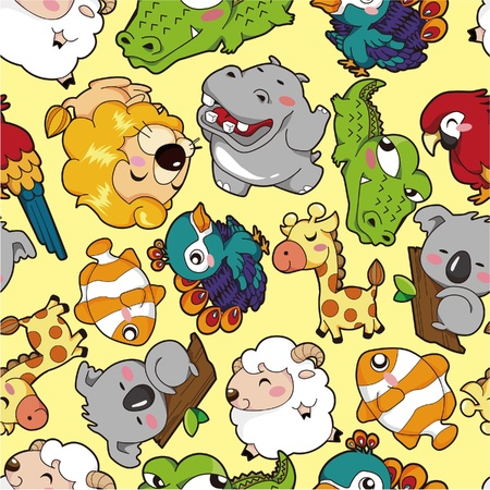 wrappers: seamless animal pattern