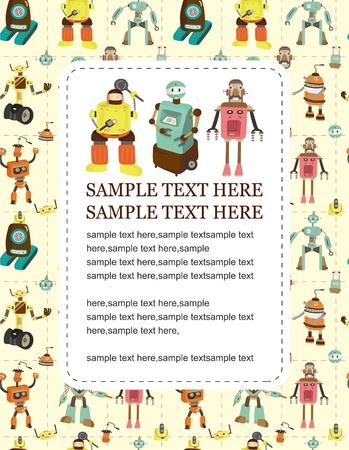 robot caricatura: tarjeta de robot de dibujos animados