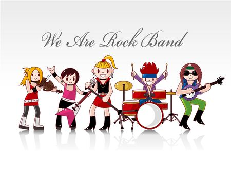 rock band card  Stock Vector - 8987381