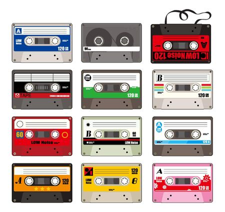 compact: cartoon tape icon  Illustration
