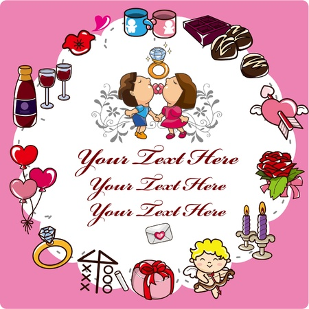 cartoon love card Stock Vector - 8987383
