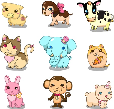 mono caricatura: icono de animales de dibujos animados