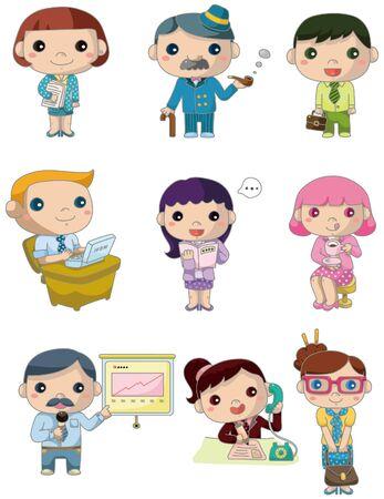 mujeres dinero: icono de trabajadores de Oficina de dibujos animados