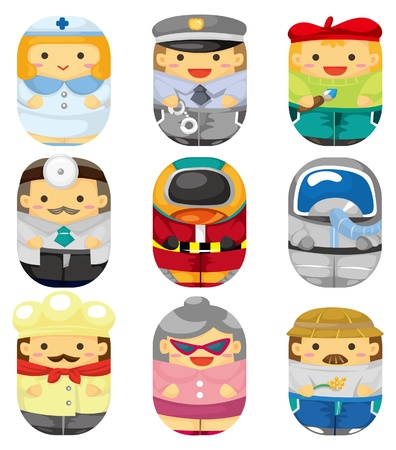 cartoon people job icon Vector