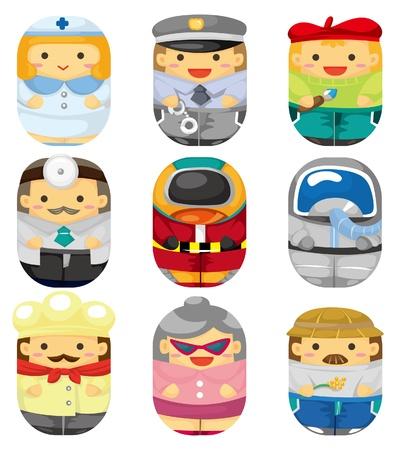 enfermero caricatura: icono de tarea de gente de dibujos animados