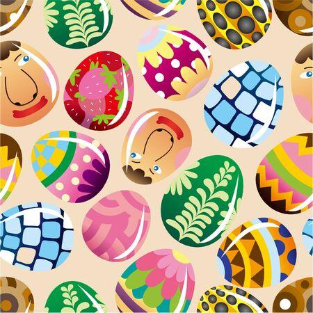 seamless Easter egg pattern Stock Vector - 8984283