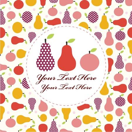 cartoon fruit card Stock Vector - 8984289