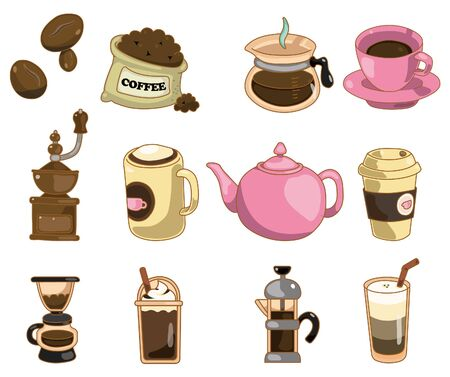 cartoon coffee icon  Illustration