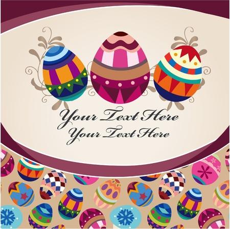 easter egg card Stock Vector - 9055872