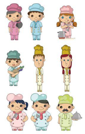 chef caricatura: icono de cocinero de dibujos animados
