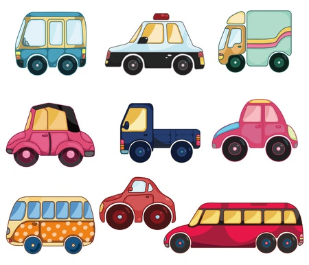 carro caricatura: icono de coche de dibujos animados